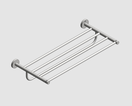 Revit, Bim, Store, Components, MEP, Object, Grohe, Plumbing, Fixtures, METRIC, Essentials, Multi, Bath, Towel, Rack, 40800001