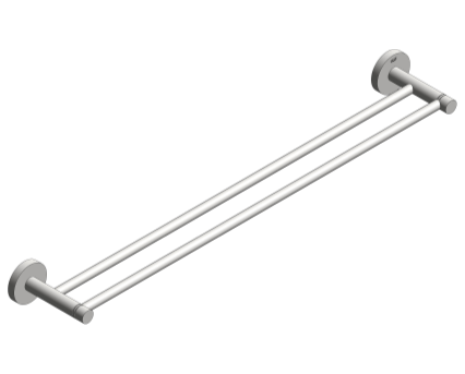 Revit, Bim, Store, Components, MEP, Object, Grohe, Plumbing, Fixtures, METRIC, Essentials, Double, Towel, Rail, 40802001