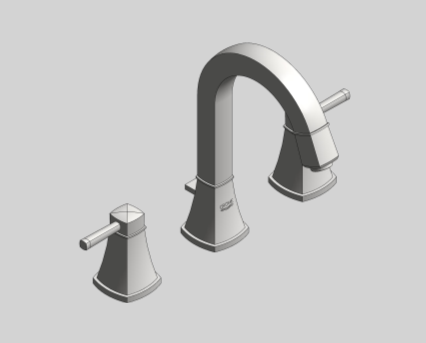 Revit, Bim, Store, Components, MEP, Object, Grohe, shower, bath, Grandera, Three, 3, Hole,  Basin, Mixer, M, Size, 20389000