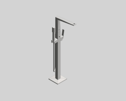 Revit, Bim, Store, Components, MEP, Object, Grohe, shower, bath, Allure, Brilliant, Single, Lever, Bath, Mixer, 23119000