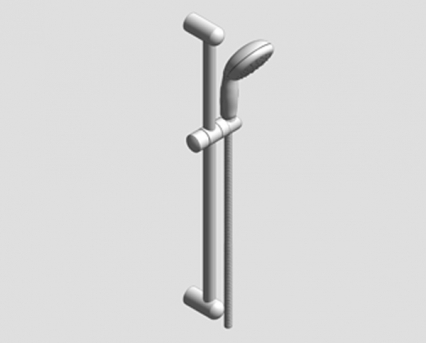 Revit, Bim, Store, Components, MEP, Object, Grohe, Plumbing, Fixtures, 14, METRIC, Tempesta 100, Shower, Rail, Set, 26162000