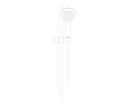 Revit, Bim, Store, Components, MEP, Object, Grohe, Plumbing, Fixtures, 14, METRIC, Tempesta 100, Shower, Rail, Set, 27794000