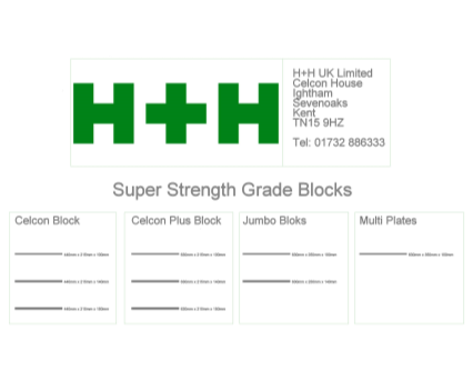 Revit, Bim, Store, Components, Wall, System, 14, Metric, H+H, UK, Limited, Block, Celcon, super, strength, grade, plus, jumbo, bloks, multi, plates