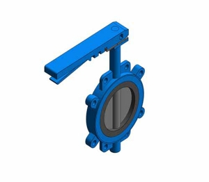 Fig. 970 - Fully-lugged Wafer Pattern Butterfly Valve