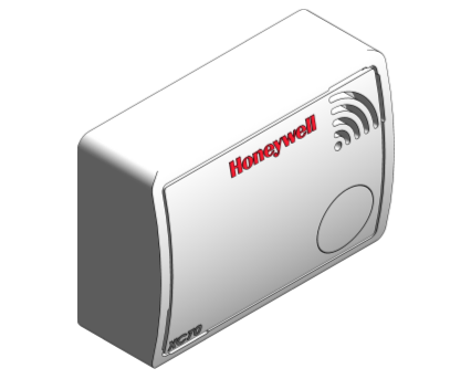 Honeywell, Alarm, Carbon, Monoxide, Sensor, Box, White, Red, Gas,