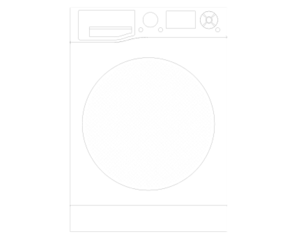 Revit, BIM, Mechanical, Kitchen, Hot, Point, Hotpoint, Ultima, S-Line, Washing, Machine, RZ 1066 W UK