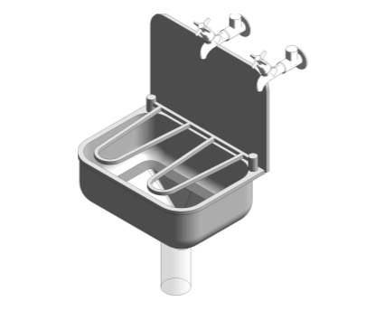Bim, Content, Object, Component, BIM, Store, Revit, Ideal, Standard, Basins, Water, Bathroom, Armitage, Shanks, Angus, Stainless, Steel, General, Purpose, Cleaners, Sink, S5912