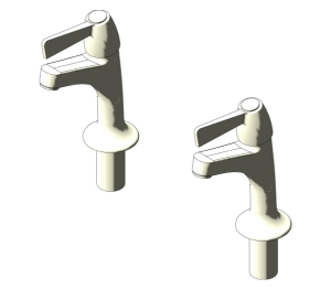 Alterna Quadrant 1/2in Lever High Neck Taps (S7193)