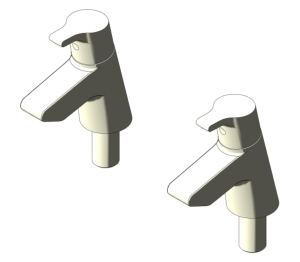 Active Bath Pillar Taps (B8076)