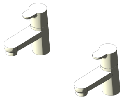 Bim, Content, Object, Component, BIM, Store, Revit, Ideal, Standard, Basins, Water, Bathroom, Ideal, Standard, Concept, Bath, Pillar, Taps, B9928