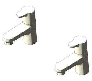 Concept Bath Pillar Taps (B9928)