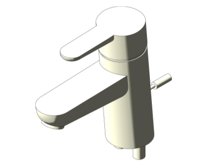 Bim, Content, Object, Component, BIM, Store, Revit, Ideal, Standard, Basins, Water, Bathroom, Ideal, Standard, Concept, Blue, Single, Lever, One, Hole, Basin, Mixer, B9915, B9918