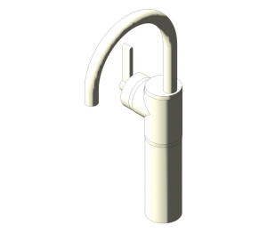 Silver Single Lever One Hole Vessel Basin Mixer (E0069)