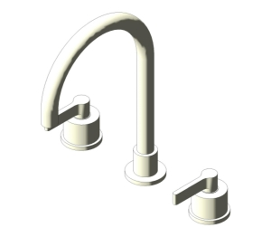 Silver Dual Control Three Hole Basin Mixer (E0061;E0062)