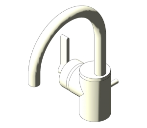 Silver Single Lever One Hole Basin Mixer (E0067;E0068)