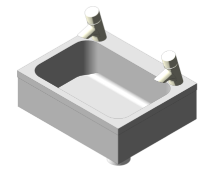 Bim, Content, Object, Component, BIM, Store, Revit, Ideal, Standard, Basins, Water, Bathroom, Armitage, Shanks, Denholm, 2, Stainless, Steel, 46cm, Washbasin, S2625, S2626, S2627