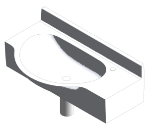 Airside 80cm Wall Mounted Washbasin (S2428;S2429)