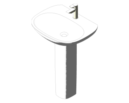 Bim, Content, Object, Component, BIM, Store, Revit, Ideal, Standard, Basins, Water, Bathroom, Tesi, 60cm, Washbasin, T0265
