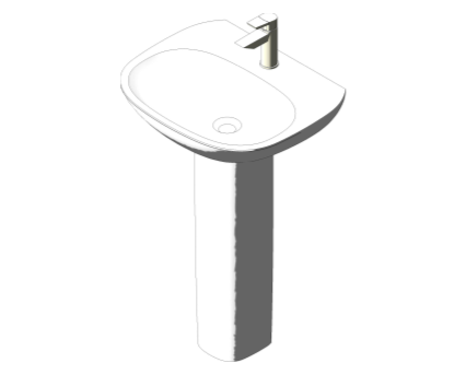 Bim, Content, Object, Component, BIM, Store, Revit, Ideal, Standard, Basins, Water, Bathroom, Tesi, 55cm, Washbasin, T0280