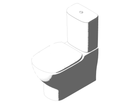 Bim, Content, Object, Component, BIM, Store, Revit, Ideal, Standard, Basins, Water, Bathroom, Tesi, Close, Coupled, Back, to, Wall, WC, Suite, T3557