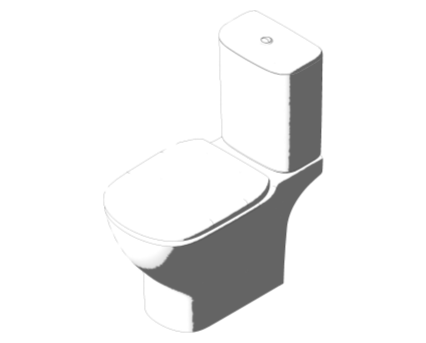 Bim, Content, Object, Component, BIM, Store, Revit, Ideal, Standard, Basins, Water, Bathroom, Tesi, Close, Coupled, WC, Suite, T3564
