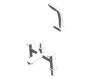 Concept Dual Control Two Hole Bath Shower Mixer (B9930)