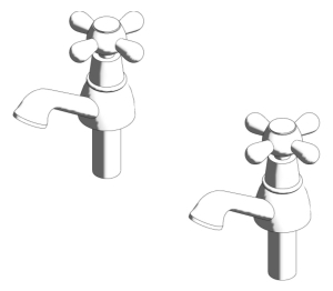 Kingston Basin Pillar Taps (E6045)