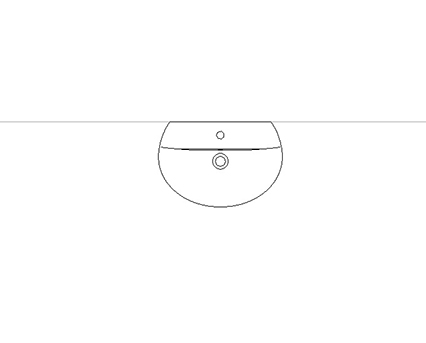 Bim, Content, Object, Component, BIM, Store, Revit, Ideal, Standard, Basins, Water, Bathroom, Concept, Space, Sphere, 55cm, Washbasin, short, projection, E1346