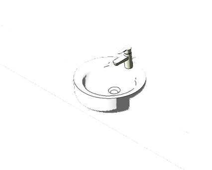 Bim, Content, Object, Component, BIM, Store, Revit, Ideal, Standard, Basins, Water, Bathroom, Concept, Sphere, 45, cm, Semi, Countertop, Washbasin, E7979, E8064