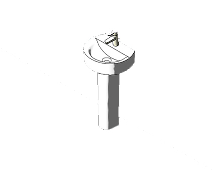 Bim, Content, Object, Component, BIM, Store, Revit, Ideal, Standard, Basins, Water, Bathroom, Concept, Sphere, 45cm, Handrinse, Washbasin, E8055, E8056