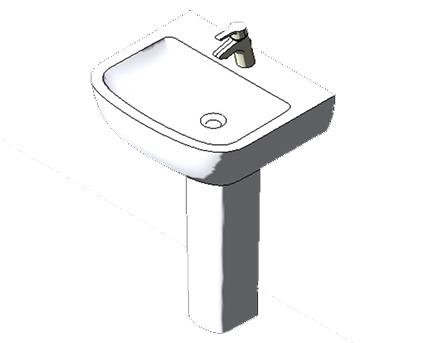 Bim, Content, Object, Component, BIM, Store, Revit, Ideal, Standard, Basins, Water, Bathroom, Tempo, 60cm, Washbasin, T0584, T0585