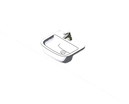 Bim, Content, Object, Component, BIM, Store, Revit, Ideal, Standard, Basins, Water, Bathroom, Tempo, 55cm, Semi, countertop, Washbasin, T0590, T0591