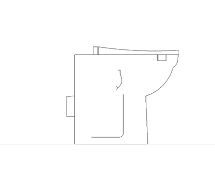 Bim, Content, Object, Component, BIM, Store, Revit, Ideal, Standard, WC, Water, Bathroom, Contour, 21, Back, To, Wall, Projection, Suite, S3057