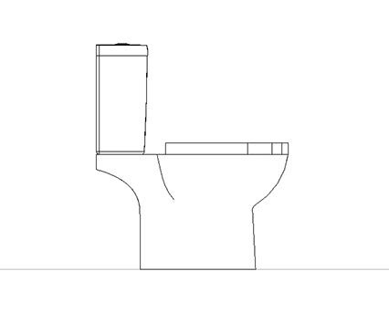 Bim, Content, Object, Component, BIM, Store, Revit, Ideal, Standard, WC, Water, Bathroom,Tempo, Close, Coupled, WC, Suite, T3276