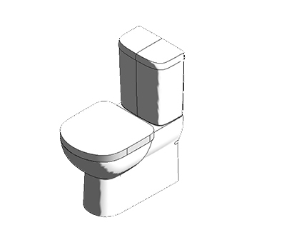 Bim, Content, Object, Component, BIM, Store, Revit, Ideal, Standard, WC, Water, Bathroom, Tempo, Close, Coupled, Back, to, Wall, Suite, T3287