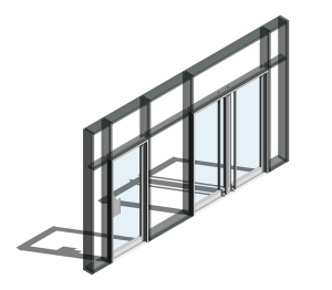 190 Door - Open In (Curtain Wall Door)