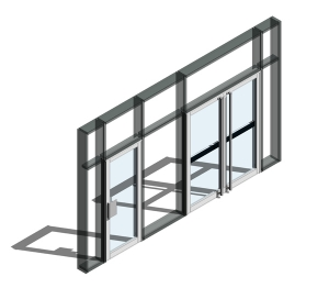 190 Door - Open Out (Curtain Wall Door)
