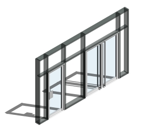 190 Door - Finger Guard Double Acting (Curtain Wall Door)