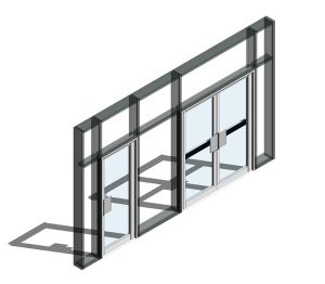 190 Door - Finger Guard Open Out (Curtain Wall Door)