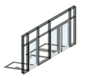 350 Door - Open In (Curtain Wall Door)