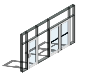 350 Door - Open Out (Curtain Wall Door)