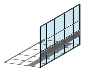 AA100 (50mm) Curtain Wall System - Dual Colour