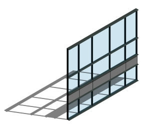AA100 (50mm) Curtain Wall System - HC