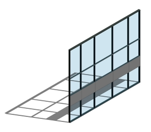 AA100 (50mm) Curtain Wall System - SSG