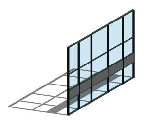 AA100 (50mm) Curtain Wall System - Zone Drained