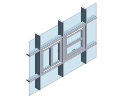 Revit, BIM, Store, Components, Architecture, Object, Free, Download, Kawneer, Curtain, Wall, System, AA720, pivot, Window, horizontal, vertical, offset, slim, light, opening,