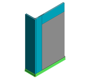 60mm KS1200UTP - Wall Base and Flush Window (0mm Cill)