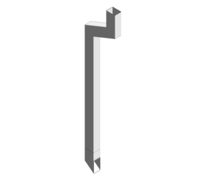 Traditional 102x76mm Rectangle Downpipe