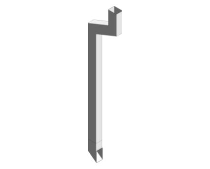 Revit, BIM, Download, Object, Free, Components, Marley, Alutec, Downpipe, Traditional, 102, 76, Rectangular,