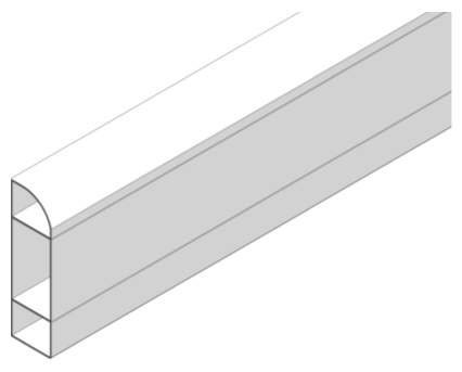 Revit, Bim, Store, Components, Object, Mechanical, Fixture, 14, Sterling, Profile, 2, Marshall, Tufflex, dado, skirting, trunking, curve